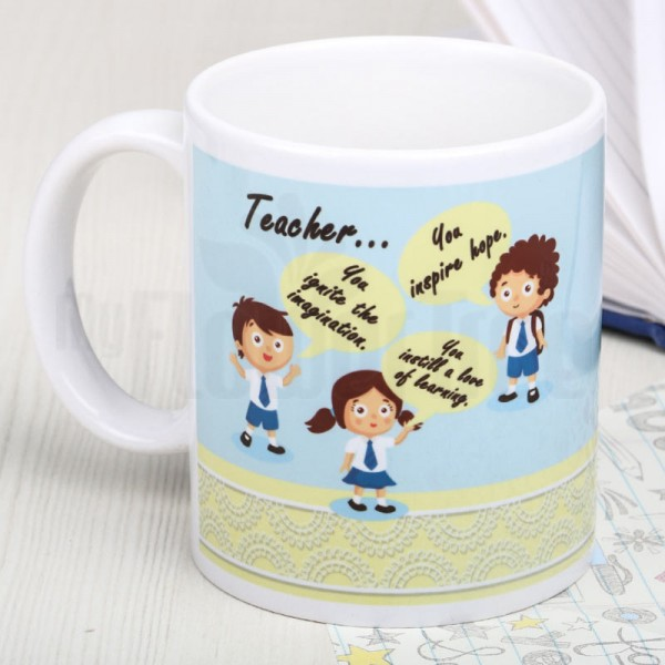 Printed White Mug for Teacher