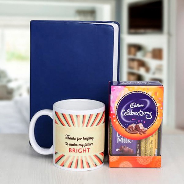 Combo of Cadbury Celebration, Diary and Printed Coffee Mug