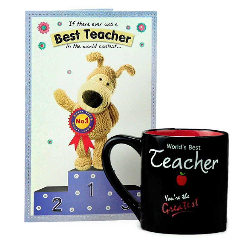Worlds Best Teacher Mug n Card Hamper