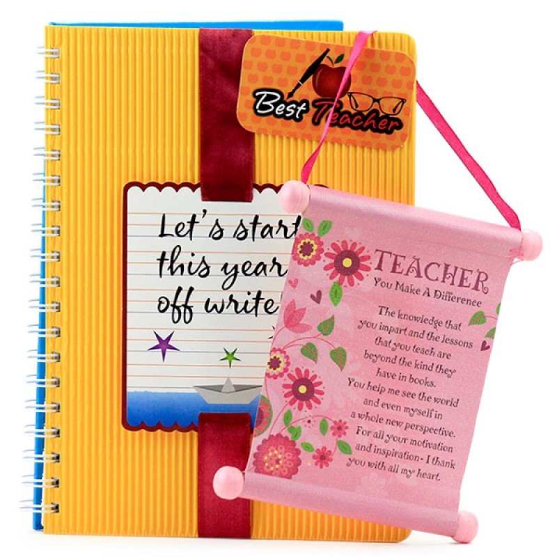 Quotation Scroll n Notebook Hamper
