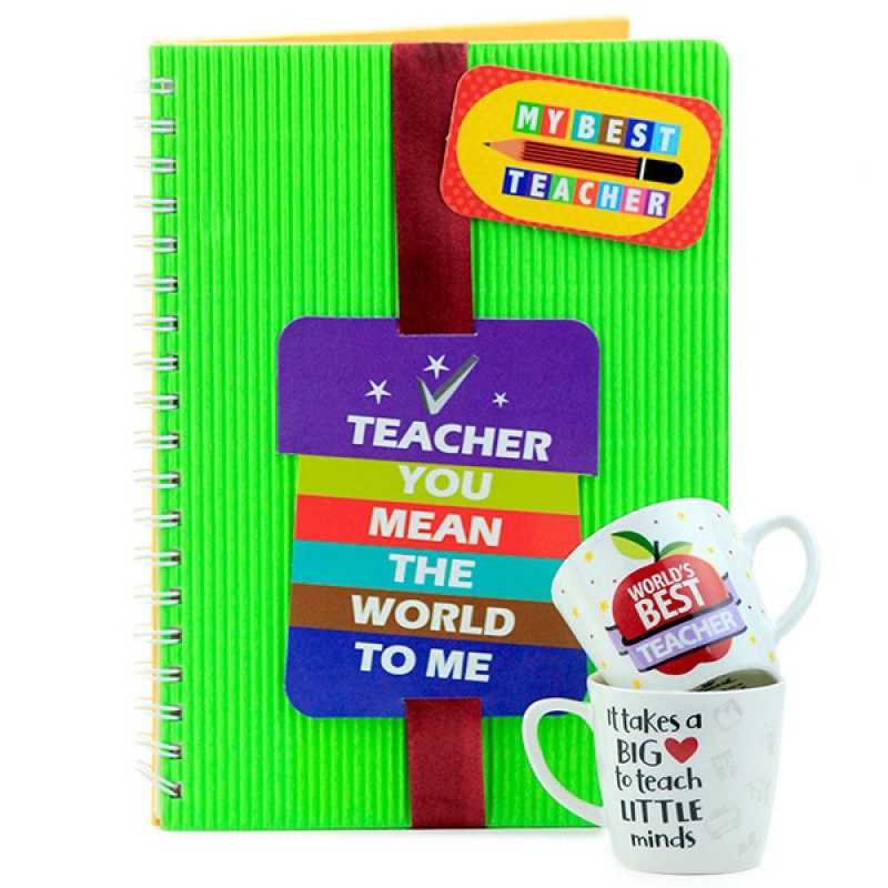 Best Teacher Notebook n Quotation Mugs
