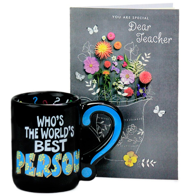 Trendy Mug n Greeting Card Hamper