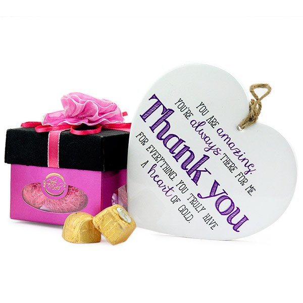 Heart Quotation n Card Hamper